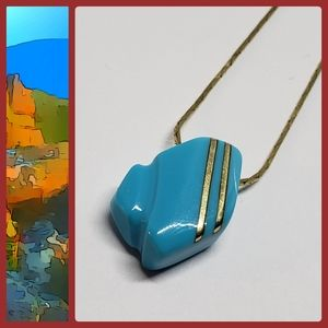 Rare Persian Turquoise & Gold Custom Necklace